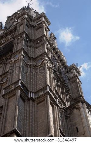 Picture of an old cathedral from spain. - stock photo
