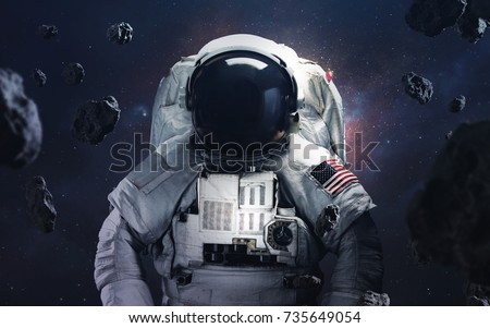 Picture Of Astronaut Spacewalking At The Awesome Cosmic Background Deep Space Image Science Fiction