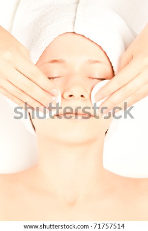 Picture of beautiful woman at spa procedures