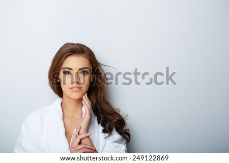 picture of beautiful woman beautiful woman in spa salon - stock photo