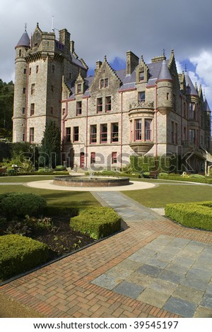 Picture of Belfast Castle in Northern Ireland. - stock photo