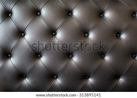 picture of black genuine leather. - stock photo