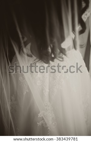 picture of bride getting ready. closeup.