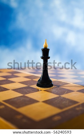 Picture of chess figure on a chessboard - stock photo