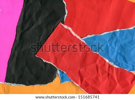 Picture of colorful torn paper - stock photo