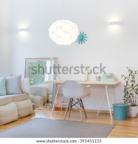 Picture of decorative lighting in cosy functional interior