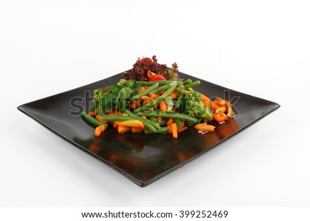 Picture of delicious asian vegetable salad - stock photo