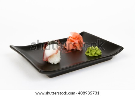 Picture of delicious nigiri with octopus