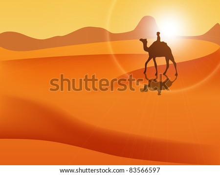 Picture of desert - stock photo