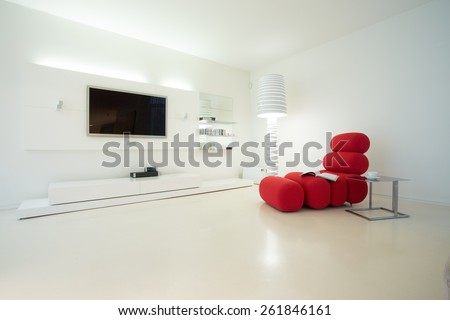 Picture of designed interior in modern style - stock photo