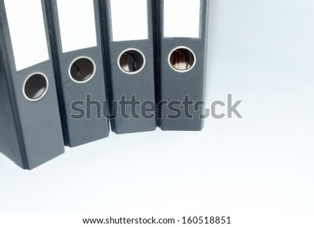 picture of document files in an office - stock photo