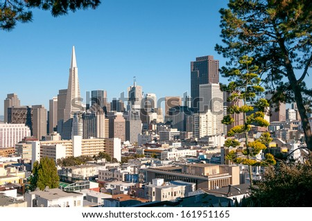 Picture of downtown of San Francisco. - stock photo