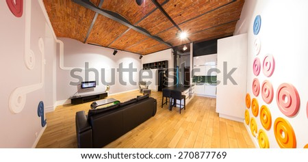 Picture of drawing room in contemporary style - stock photo