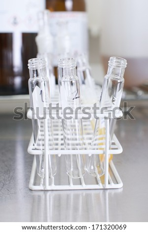 Picture of equipment in a lab - stock photo