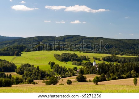 Picture of European countryside during the daytime. - stock photo