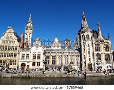 Picture of Ghent, Belgium in a sunny day
