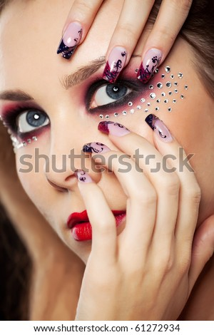 picture of  girl face  isolated - stock photo