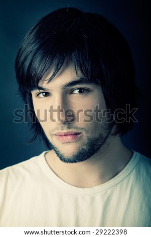 Picture of Good looking  young man portrait - stock photo