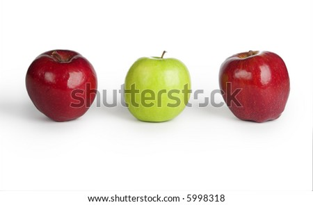 Picture of healthy apples isolated on white