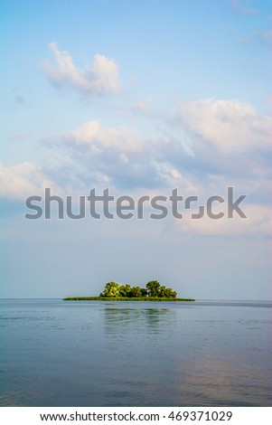 picture of little island in Dniper river.