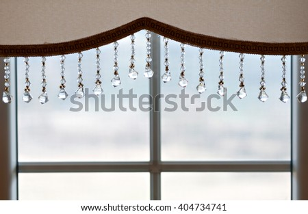 Picture of luxurious curtains at home. - stock photo