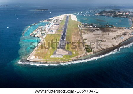 Picture of main airport in Male, Capital of Maldives region - stock photo