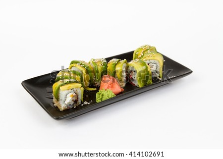 Picture of maki with mussels - stock photo