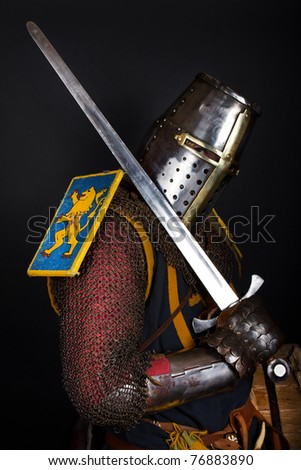 picture of noble knight - stock photo
