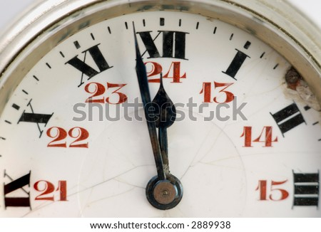 Picture of old clock - stock photo