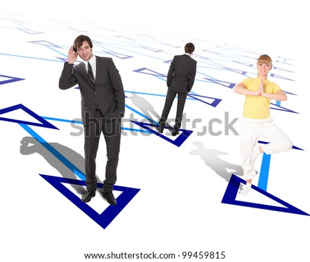 Picture of people connected in social network - stock photo