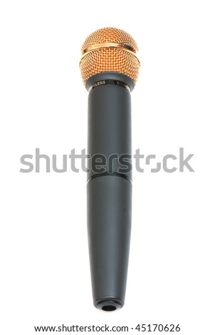 picture of professional microphones in the studio on white isolated background