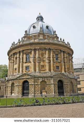 Picture of Radcliffe Camera in Oxford, England on a clear day