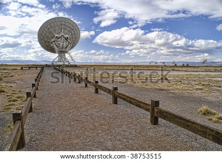 Picture of Radio Telescope - stock photo