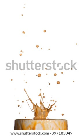 Picture of splash of colorful water on background - stock photo