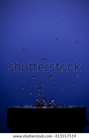 Picture of splash of water on background - stock photo