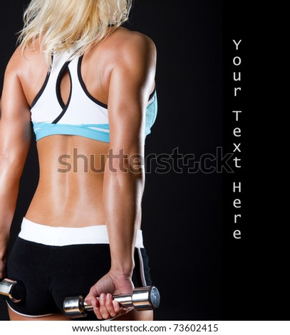 Picture of sportswoman in good shape - stock photo