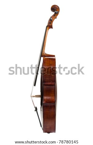 Picture of the cello on a white background - stock photo
