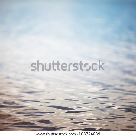 picture of the surface water in the sunrise time - stock photo