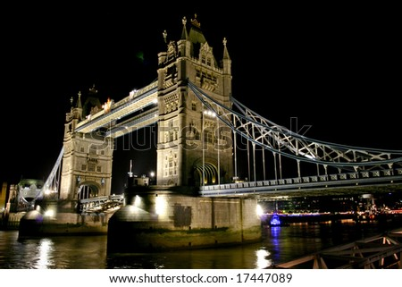 Picture of the Tower Bridge in London England - stock photo