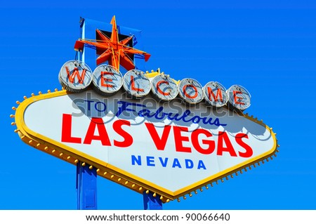 Picture of the Welcome to Fabulous Las Vegas sign - stock photo