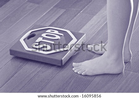 picture of the woman trying to go on a diet - stock photo