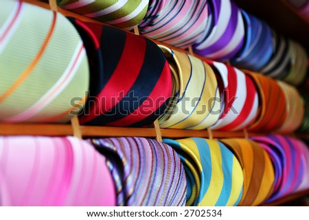 Picture of Ties taken in Venice Italy - stock photo