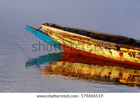 Picture of traditional boats captured in Senegal, Africa - stock photo