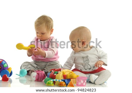 Picture of two little girls playing together