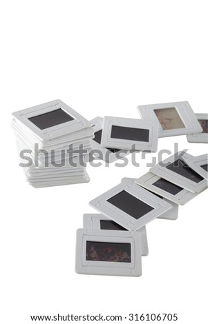picture of vintage mount slide positive film - stock photo