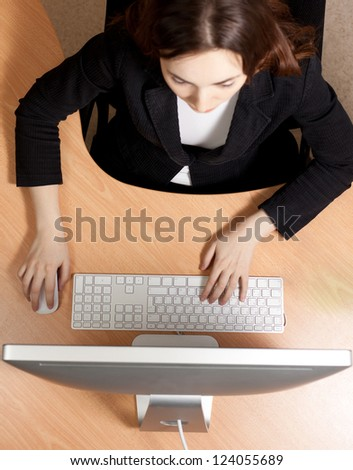 Picture of woman at the work place