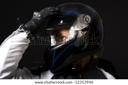 Picture of woman preparing for race - stock photo