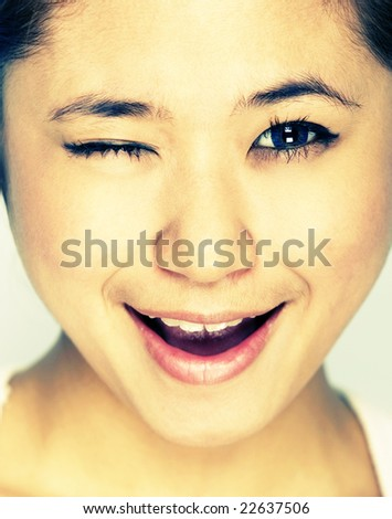 Picture of young model with face expression - stock photo