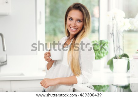 Picture of young woman in the kitchen