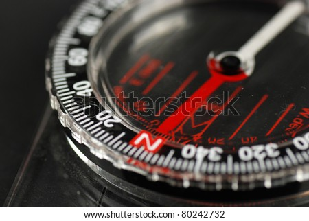 picture ofa magnetic compass - stock photo